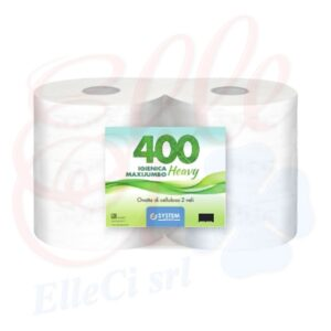 "Carta Igienica Jumbo Maxi ""Heavy"" Ecologica 2veli 6rot."
