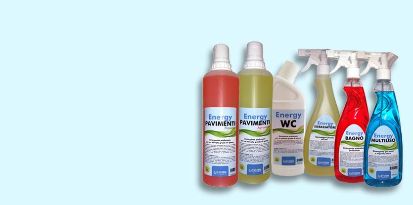 Linea Energy per pulizia bagno, pavimenti e multiuso